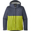 Patagonia M's Torrentshell Jacket Dolomite Blue w/Light Gecko Green